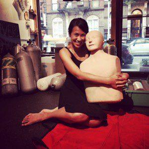 CPR class, Annie Doll