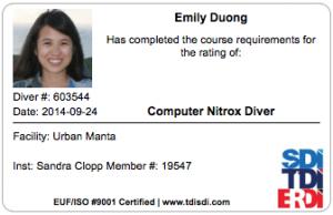 Nitrox class, nitrox diver